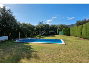 Large swimmingpool in flat garden in Calonge