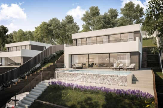 Contemporary design newly built villa with sea view in Begur.