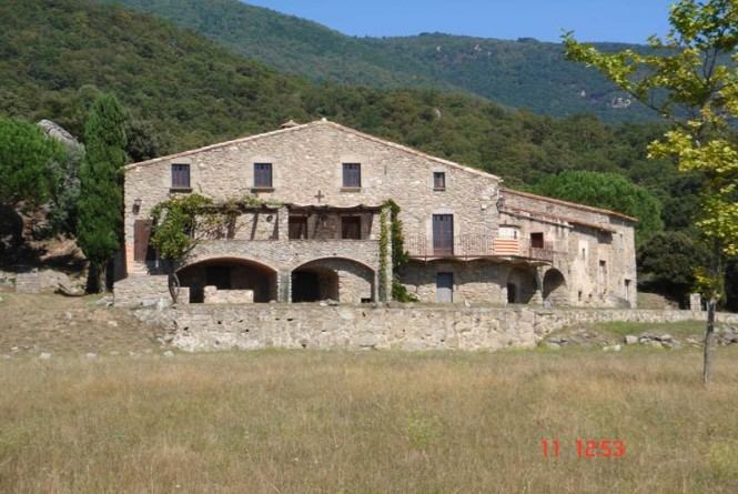 Typical catalan farmhouse of the XVII- century close to the village
