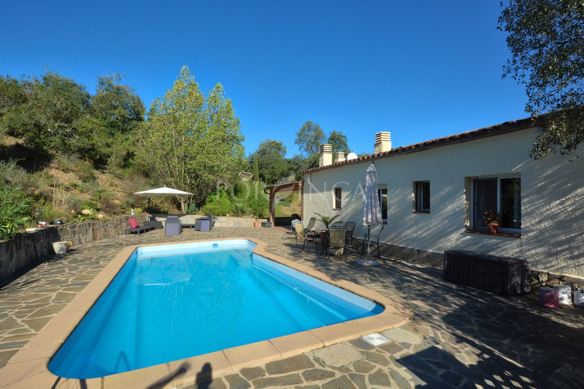 Private pool of villa in Vall Repos Santa cristina d