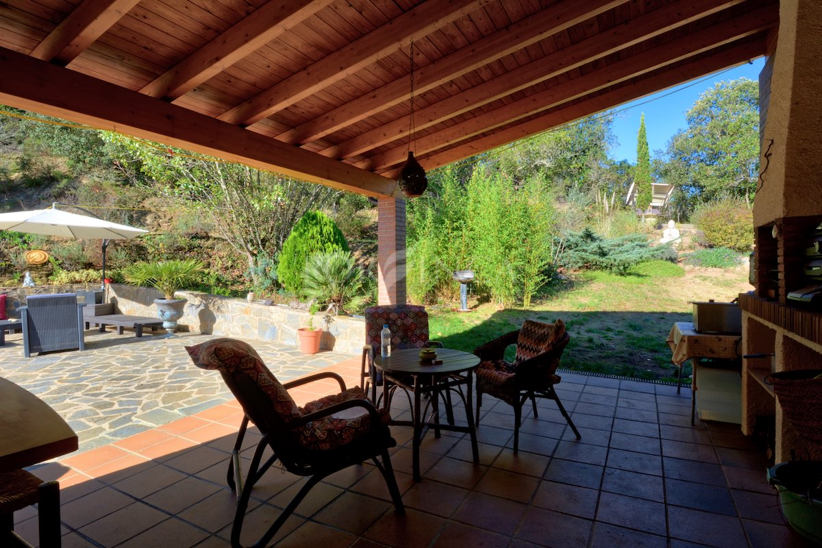 Covered terrace of villa in Vall Repos Costa Brava